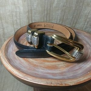 Black Brighton belt with two tone buckle size m/l